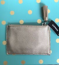 EXPRESS GOLD CHANGE COIN PURSE WALLET POUCH NWT