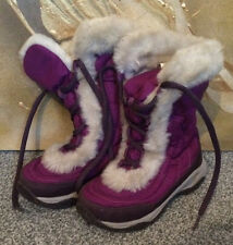 THE NORTH FACE NUPTSE FUR II PURPLE WINTER BOOTS SIZE UK 10