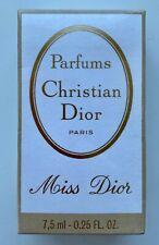 Christian dior miss dior parfum 7,5 ml 0.25 fl oz VINTAGE SEALED