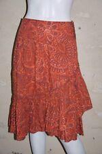 PROMOD Taille 38 Superbe jupe rouge orangé skirt falda rock
