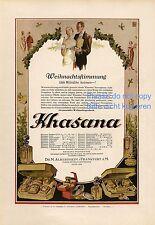 Parfum Khasana XL Reklame 1924 Weihnachten Geschenk Gold Werbung Bescherung