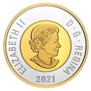 2021 Canada $2 Dollar TOONIE Silver from Proof Set - 100th anniversary BLEUNOSE
