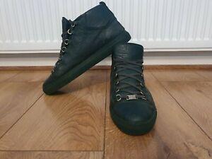 Mens Balenciaga High Top Arena Trainers/Sneakers Green Uk Size -  9 EU - 43