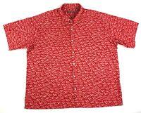 Tori Richard Mens Hawaiian Camp Shirt Lobsters Button Up SS Red USA 3XL