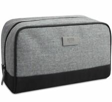 Hugo Boss Original Men's Grey Toiletry Wash Pouch Shaving Bag ✲Free Shipping✲