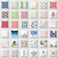 "18"" Geometric Pattern Polyester Pillow Case Sofa Waist Cushion Cover Home Decor"