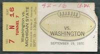 1970 college football ticket stub Michigan State Spartans v Washington Huskies