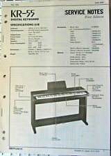 Roland KR-55 Digital Piano Keyboard Original Service Manual Booklet, Japan 1990