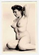 #743 ROESSLER AKTFOTO / NUDE WOMAN STUDY * Vintage 1950s Studio Photo - no PC !