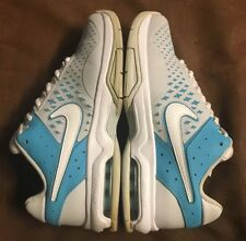 NIKE AIR MAX CAGE ADVANTAGE TENNIS COURT SHOES GRAY TURQUOISE BLUE WOMEN SIZE 8
