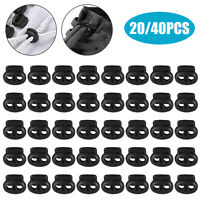 40 Toggle Double Hole Spring Elastic Drawstring Rope Cord Lock Clip End Stopper
