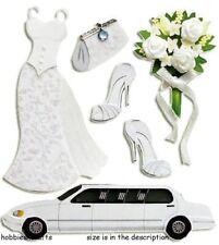 EK SUCCESS JOLEE'S BOUTIQUE 3-D STICKERS - BOUQUET WEDDING DRESS  LIMO - BRIDE