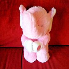 Goffa International Praying Elephant Pink Soft 12in Plush Cream Inner Ears Feet