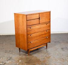 Mid Century Modern Dresser Highboy American Martinsville Drexel Bleached Walnut