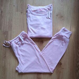 Victoria's Secret Cozy Knit Pink Crewneck & Jogger Lounge Set Size Small