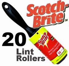 20 x lint rouleaux scotchbrite collant collant rouleaux jumbo taille nouveau fluff bits