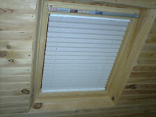 WHITE BLACKOUT PLEATED BLINDS for VELUX GGL 7 U04 & 804