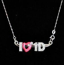 I Love One Direction 1d Metal Collar Cadena De Regalo Gratis Bolsa llenador de la media