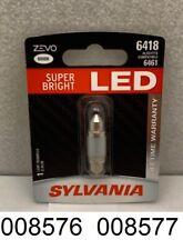 **NEW** Sylvania ZEVO 6418LED.BP License Light Bulb Single Pack Rear