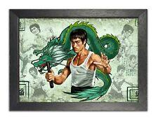 Bruce Lee Ilustración American actor Leyenda De Artes Marciales Impresión Póster De Dragón