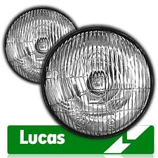"""Classic Land Rover Lucas 7"""" Domed Sealed Beam Halogen Conversion Headlights"""