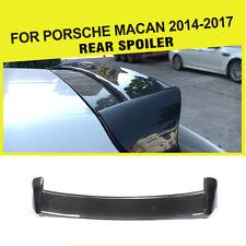 1PC Carbon Fiber Rear Roof Spoiler Window Top Wing Kit For Porsche Macan 2014-17