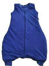 Schlummersack Schlafsack mit Füßen 100% Baumwolle 2.5 Tog 70cm 6-12M Blau