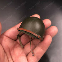 "1/6 Scale Hat WWII US Soldier Metal Helmet Model Cap for 12"" Scene Action Figure"