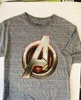 Marvel Avengers Men's Small Grey T Shirt Avengers Logo