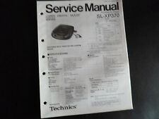 ORIGINALI service manual TECHNICS Portable CD Player sl-xp-370