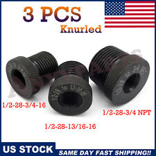 1/2-28 3/4-16 13/16-16 3/4 NPT Threaded Oil Filter Adapter Solvent Trap Frame(3)