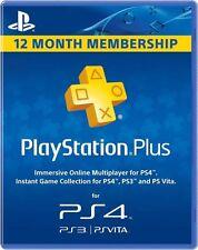 12 Month / 1 Year PlayStation Plus Membership USA, Canada, Mexico PS4 PS3 Vita
