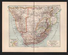 Landkarte map 1892: SÜD-AFRIKA. (KAPKOLONIEN)