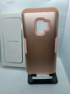 YOUMAKER Galaxy S9 Heavy Duty Shockproof Full Body Rose Gold Case