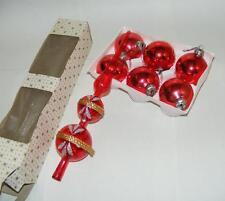 alte Weihnachtskugeln Christbaumkugeln Weihnachtsschmuck mit Spitz Vintage rot