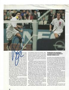 Pete Sampras Signed Magazine Page / Autographed IN PERSON