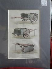 ANTIQUE PRINT: AGRICULTURE CART, CLOD- CRUSHER. BLACKIE & SON .1860