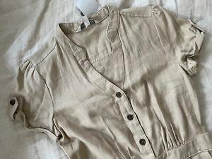 Linen Blend Midi Dress 6 BNWT