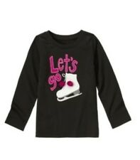 New Gymboree Merry and Bright Toddler Girl's Let's Go Skating Grey Top size 3