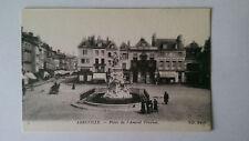 Abbeville France Vintage B&W Postcard  c1900 Place de l'Amiral Courbet