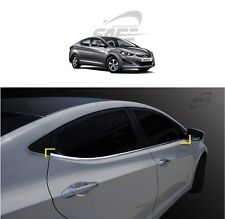 SAFE Window Door Belt Chrome Molding 4Pcs For Hyundai Elantra MD 2011 2016