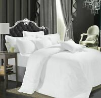 Hotel Quality 600 800 1000 1200 TC 100% Egyptian Cotton White Solid *