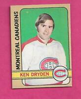 1972-73 OPC # 145 CANADIENS KEN  DRYDEN  2ND YEAR GOOD CARD (INV# C5645)