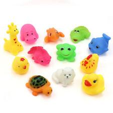 12Pcs Cute Soft Rubber Float Sqeeze Sound Baby Wash Bath Play Animals Toys