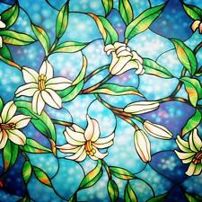 bofeifs Decorative Privacy Window Film Frosted Stained Glass Clings No glue...