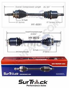 Pair of 2 Front CV Axle Shafts for Hyundai Santa Fe 01-06 FWD Automatic Transm.