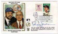 Baseball Reggie Jackson Autographed Z-Silk HOF Induction Cover w/ CAS COA