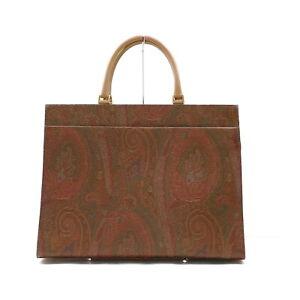 ETRO Hand Bag  Browns PVC 1216839