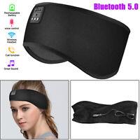 Sports Bluetooth Wireless Earphone Mic Stereo Headphones Headsets Sleep Headband