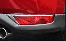 Chrome Rear Fog Light Trim Molding Bumper Reflector Strips For Mazda CX5 2017